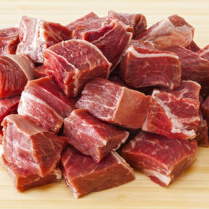 Raw Beef Stew Meat
